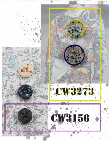 Splattered Lucite Button