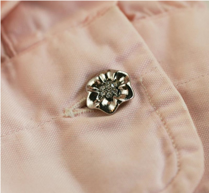 'METAL & RHINESTONES' SHANK BUTTON